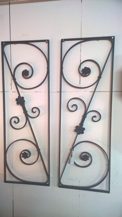 2 Identical French Door Grills Fencing