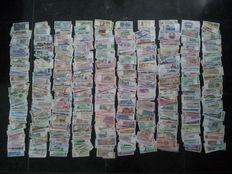 World - Large collection of 1,000 different banknotes from all over the world.