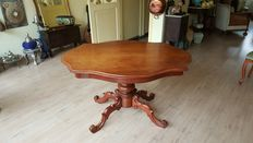 A late Biedermeier mahogany table - The Netherlands - around 1880