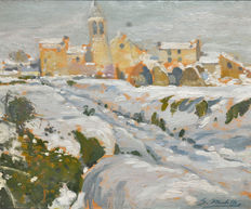 Segundo Matilla (1862 - 1937) - Snow-covered landscape