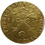 Check out our Brabant, Anwerp. Double albertine 1603, coined under Albrecht and Isabella – Gold