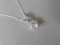 Platinum Diamond-set pendant - 0.44ct  G-I, VS- SI2
