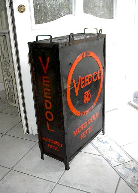 Veedol Engine Oil Grease - metal cabinet of old gas station, Germany ...