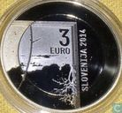 "Slovénie 3 euro 2014 (BE) ""200th anniversary of the birth of the photographer Janez Puhar"""