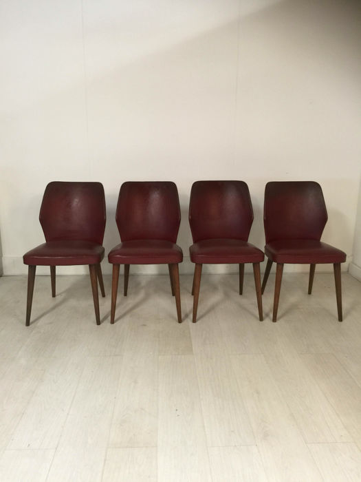 Set of 4 1950s dining room chairs catawiki for Dining room furniture auctions