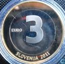 "Slovénie 3 euro 2011 (BE) ""20th anniversary of Independence"""