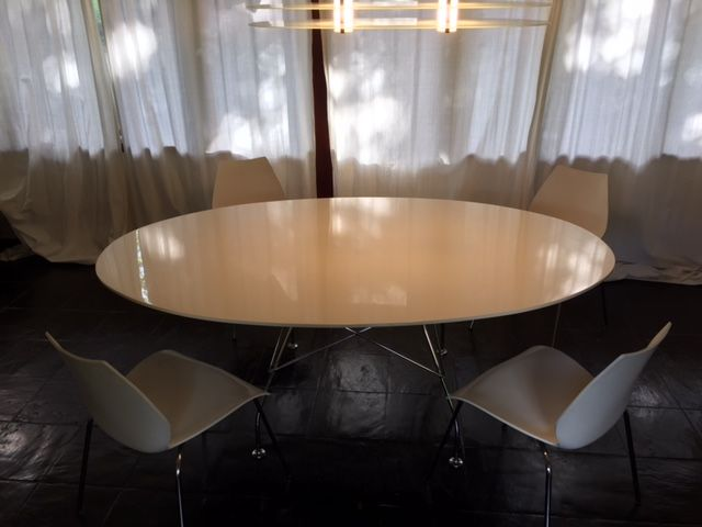 Antonio citterio for kartell glossy oval table. catawiki