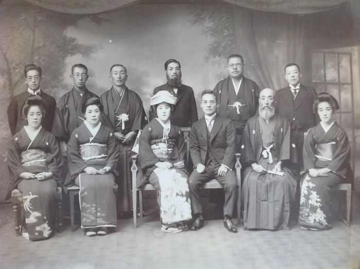Large photo album with 203 photos, mostly portraits and group photos - Japan - 1924