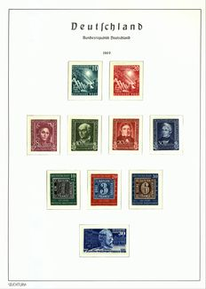 Federal Republic of Germany 1949 - complete year - Michel 111/120