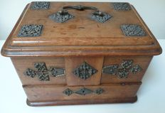 Walnut writing box with bronze fittings - England - ca 1930