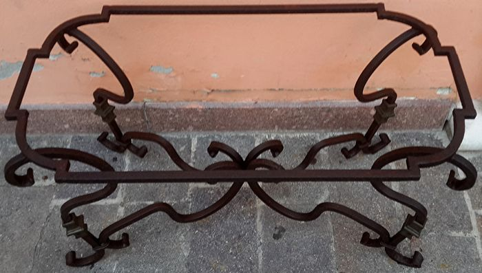Tavoli In Ferro Battuto Napoli.Wrought Iron Frame For A Rectangular Table Origin Naples