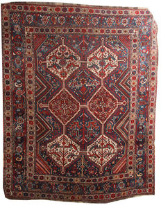 Antique Persian tribal Khamseh rug in good condition 205 x 167 cm