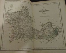 Atlas; John Cary - Cary's New and Correct English Atlas: Being a New Set of County Maps from Actual Surveys - 1793