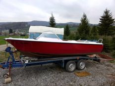 Motor Boat, Sport Boat with Street Legal Trailer - 1972