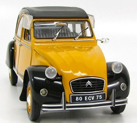 "Solido - scale 1/18 - Citroen 2CV ""Charleston Duck"" 1982 - yellow / black"