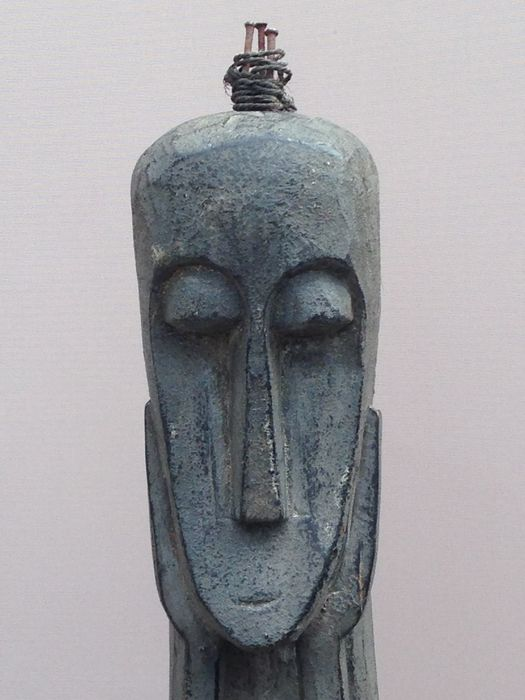 Large wooden ancestral statue - Timor - Eastern Indonesia - 2nd half 20th century