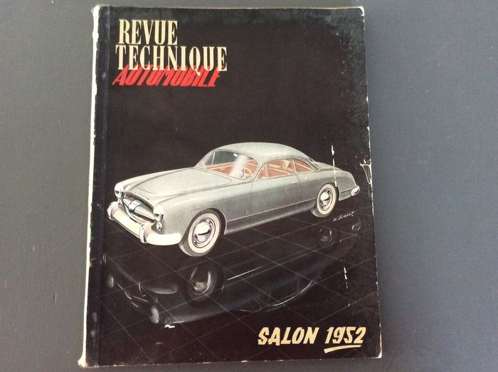 Revue Technique - Salon de l'Automobile 1952 - 206 pages and The Motor Roadtests of 1953 cars - 86 pages