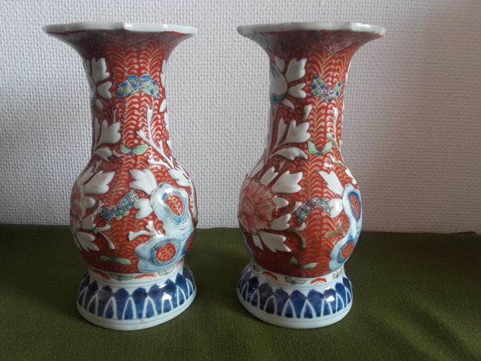 Pair Of Japanese Vases Japan Early 20th Century Sicle Catawiki