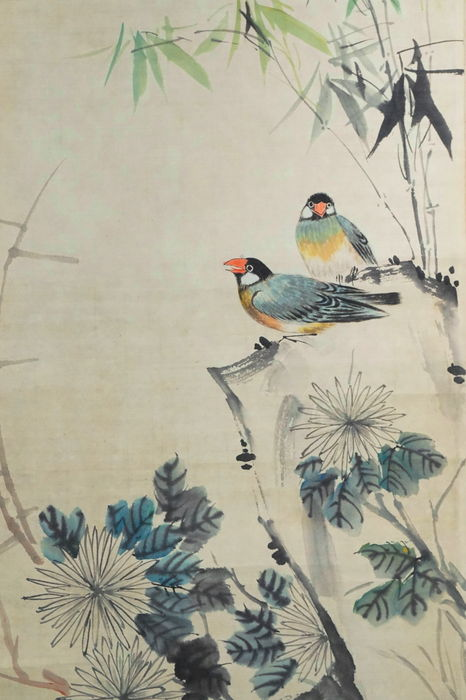 Painting Of Birds And Flowers On Paper China First Half Of