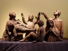 Deposition of baby Jesus - oak wood - France - neo-Gothic - 2nd half of the 19th century