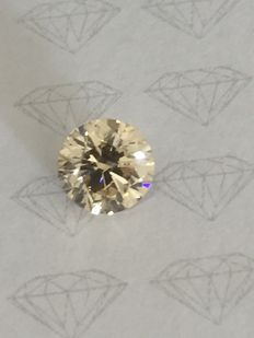 3.01 ct Round brilliant -cut diamond natural J SI2