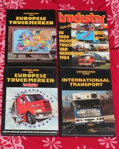 Literature - Trucks & transport; Lot of 4 photo books - 1984/1991