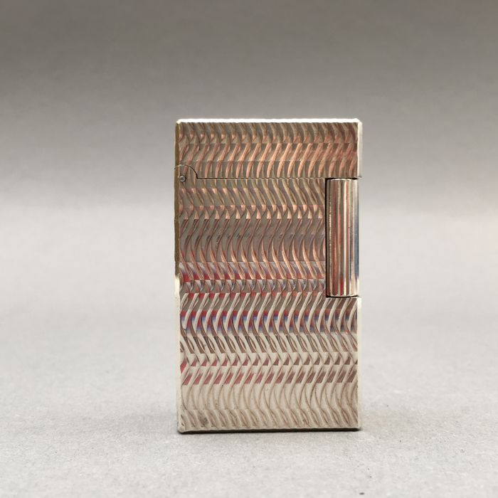 S t dupont lighter ligne 1 silver plated decor for Ligne decor