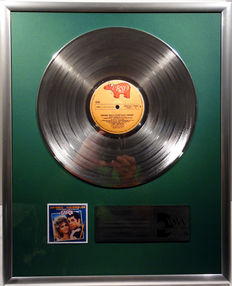 "Grease - the Soundtrack - 12"" german RSO Record platinum plated record by WWA Awards"