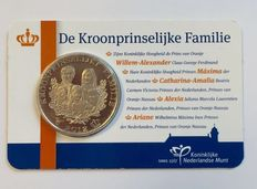Netherlands - Medal 2012 'The Crown Prince's Family' in coin card