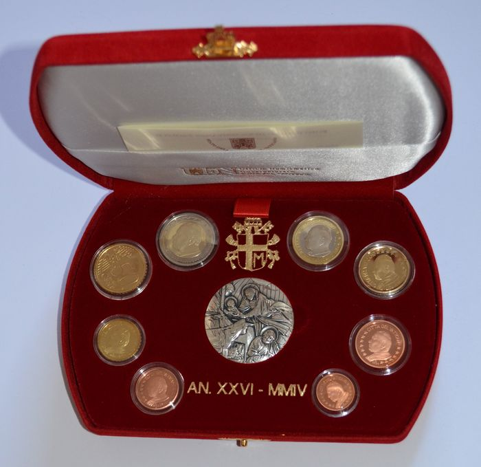 Vatican – Year collection (Proof) 2004 John Paul II