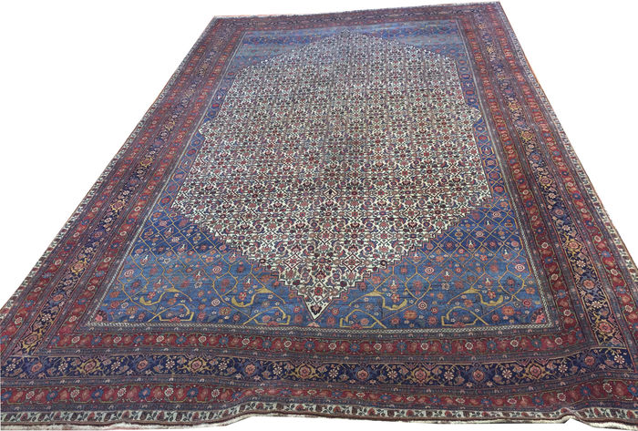 Extraordinary and rare antique Large size Persian Bijar carpet, Circa 1880
