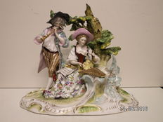 Very fine porcelain sculpture group, late 19th century Germany
