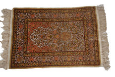 fine Silk and Gilt Turkish Hereke rug 97 x 65cm