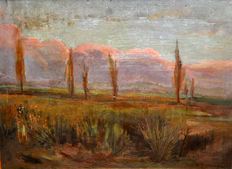 Melcior Domenge Antiga (1871 - 1939) - Landscape at dusk