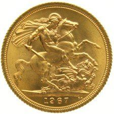 England – sovereign 1967 – Elizabeth II – gold