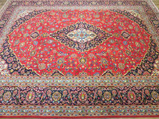 Dreamy beautiful Persian carpet Kashan/Iran 397 x 305 cm signed approx. 10-15 years old MINT CONDITION