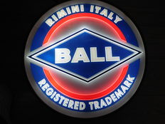 "Beautiful plastic Round ""Ball"" Light advertisment/2nd half of 20th century"