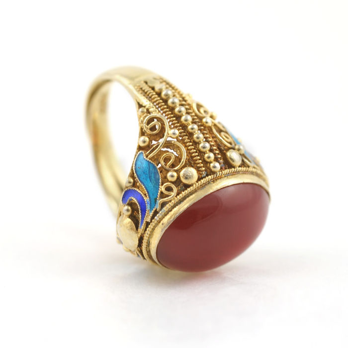 Chinese Cloisonne Ring