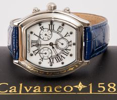 CALVANEO 1583 Saphiron. Mother of pearl dial with 11 sapphires – Men's wrist chronograph – New.