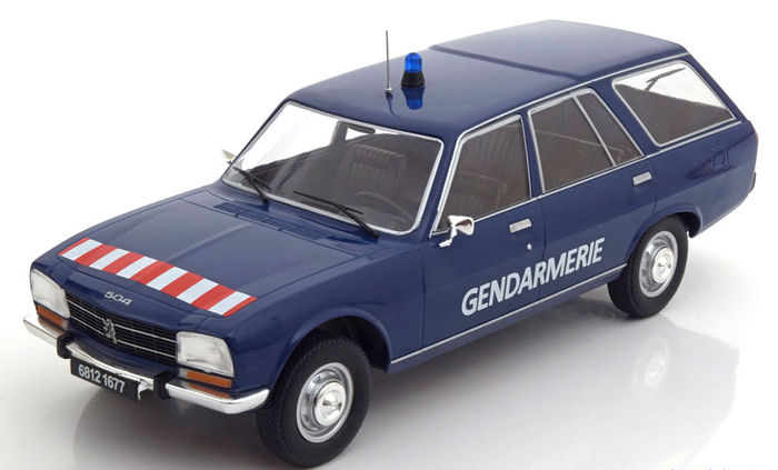 Modelcar Group Scale 1 18 Peugeot 504 Break French Police 1976