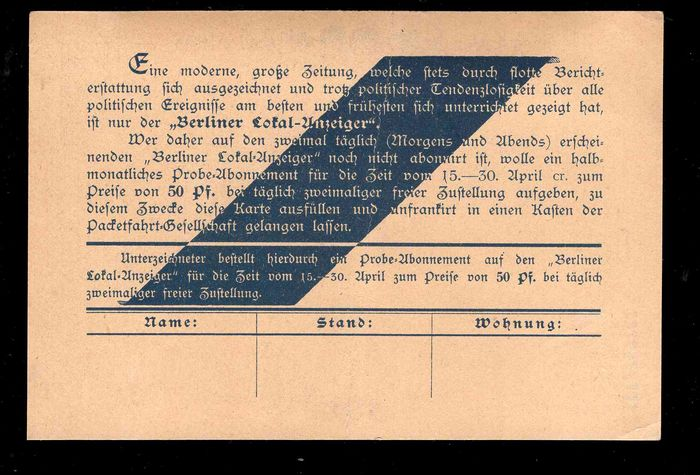 East and West Berlin 1888/1979 - Collection including City Mail and ...