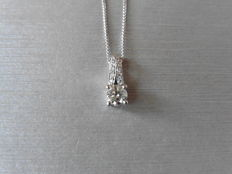 18k Gold Diamond-set Drop Pendant - 0.70 ct / 0.06 ct.