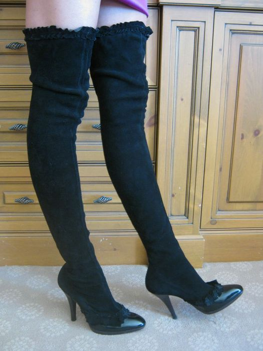 c2ea0739dfb1b Tom Ford for Yves Saint Laurent - Thigh High Boots - Catawiki