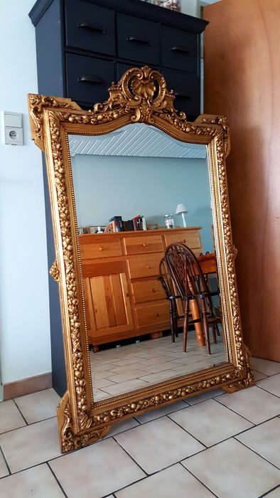 Gigantesque miroir de ch teau dor taill facette catawiki for Miroir facette
