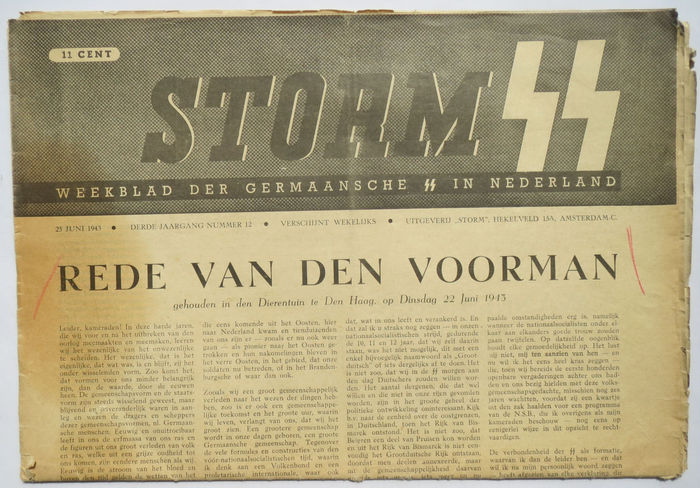 SS; Storm SS - June 25, third volume number 12 - 1943