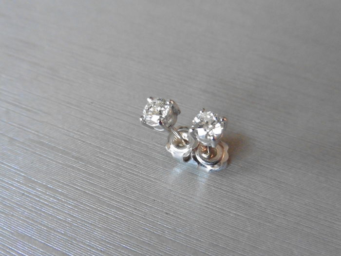 Platinum Solitaire Diamond Stud Earrings - 0.60ct