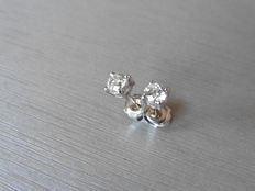 Platinum Solitaire Diamond Stud Earrings -  0.60ct  I,SI1
