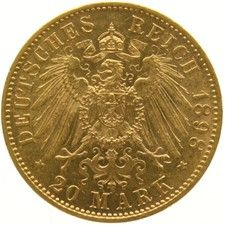 Germany (Prussia) – 20 mark 1898A – Wilhelm II – Gold