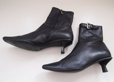 Prada - leather ankle-high boots