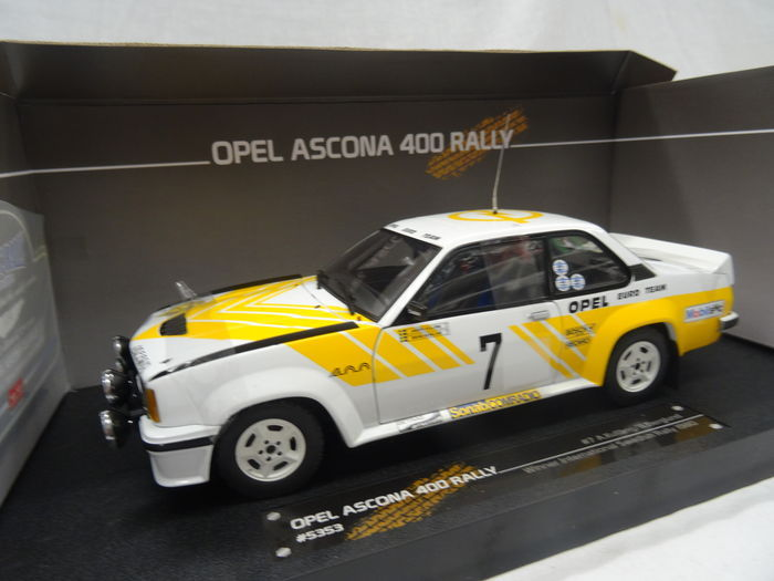 sun star scale 1 18 opel ascona 400 rally winner international swedish rally 1980 no 7. Black Bedroom Furniture Sets. Home Design Ideas